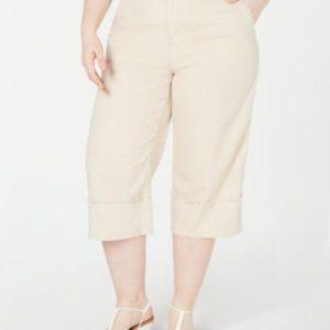 Style & Co Wide Crop Mid rise Woman's Capri's 24W
